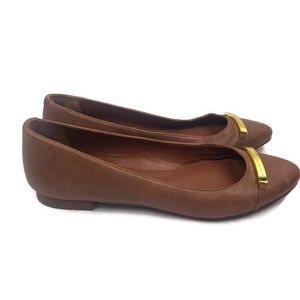 Lauren Ralph Lauren Farrel Tan Leather Flats Sz. 7